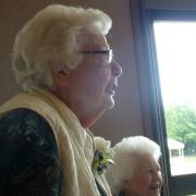 Life member Pearl Porter, Edith Burch background