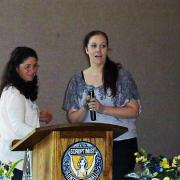 Vice President Teresa Zimny presents 2nd Place Live Your Dream Award to Marlies Swanson